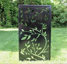 Tree Leaf Design Steel Gate Decorative Tall Fence Gate Madison