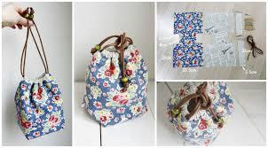 Drawstring Bag Pattern Best Reversible Drawstring Bag Tutorial Pretty Ideas