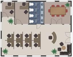 Office floor plan design Commercial Building Office Floor Plan Office Plan Conceptdrawcom Office Layout Plans Solution Conceptdrawcom