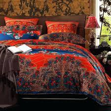 bohemian style quilt covers boho style duvet covers boho style doona cover chinese red purple and