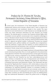 preface by dr florens m turuka permanent secretary prime  preface by dr florens m turuka permanent secretary prime minister s office united republic of tanzania oecd edition