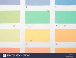 Paint Colour Charts Stock Photo 87123074 Alamy