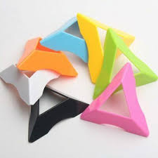 <b>10pcs</b> Magic Cube Colorful Stand Funny <b>Triangle Universal</b> Base ...