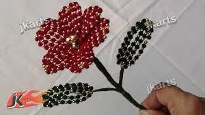 diy how to make velvet beads flower jk arts 206 you