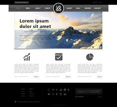 Website Design Template 24 Free PSD Web Design Templates Design development Website 1