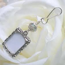 wedding bouquet photo charm sparkly bridal bouquet charm gift for the bride small picture frame for wedding flowers wedding keepsake