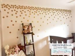 gold dot wall wall stickers polka dots