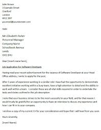 cover letter for a software developer   icover org uk