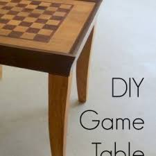 Wooden Game Table Plans Chess Board Tables Furniture Foter 34