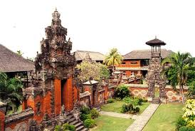 The shape of the museum architecture is a mix betwixt the  BaliBeach; BALI MUSEUM