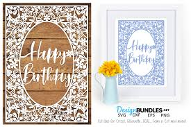 Happy Birthday Paper Cut Design