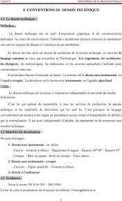 I Conventions Du Dessin Technique Pdf