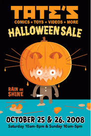 halloween sale flyer tate s comics inc halloween sale