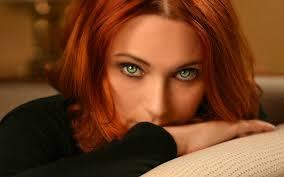 Women Model Face Green Eyes Redhead Portrait Wallpaper STUNNING.