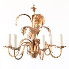 gold palm leaves chandelier from italy