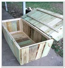 outdoor storage seat outdoor wood