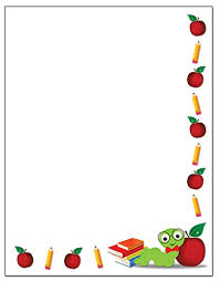 Teacher Theme Border Stationery 8 5 X 11 60 Letterhead Sheets For The Classroom Border Letterhead Teacher 1