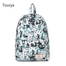 <b>Tourya</b> Casual Backpacks Women <b>Cute Cat</b> Printing School ...