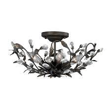 trellis lighting. Cascadia Lighting Trellis 16-in W Architectural Bronze No Shades Semi-Flush Mount Light R