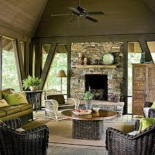 Outdoor patios with fireplace Wood Pool House Outdoor Fireplace Southern Living Glowing Outdoor Fireplaces Ideas