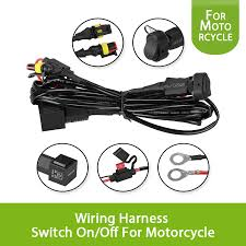 40a universal car work fog light 12v wiring harness switch on off universal motorcycle spot fog light wiring loom harness 40a universal car work fog light 12v wiring harness switch on off for motorcycle bmw r1200g auxiliary fog light in cables, adapters & sockets from