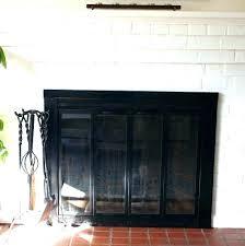 brass fireplace doors painting before after door trim inspiration with screen brass fireplace doors modern ideas paint