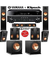 home theater yamaha. klipsch rp-280f 5.1.2 dolby atmos home theater system with yamaha rx-v681bl 7.2-ch network a/v receiver from amazon.com | soundandvision t