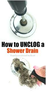clogged sink baking soda salt unclogging shower drain chemicals to unclog bathtub vinegar