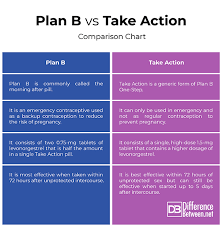 Birth Control Pill Types Chart Difference Between Plan B And Take Action Difference Between