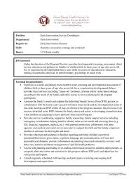 Service Coordinator Resumes Early Intervention Service Coordinator Pernet Family