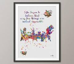 Mad Hatter Quotes Beauteous Mad Hatter Tea Party Quote Alice In Wonderland Watercolor Print Tea