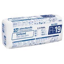 johns manville sound shield r 19 fiberglass batt insulation with sound barrier 24