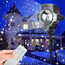 YINUO LIGHT Christmas Snowflake Laser Light <b>Snowfall Projector</b> ...