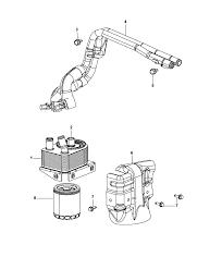 engine oil filter adapter cooler for 2015 chrysler 200 2015 chrysler 200 engine oil filter adapter cooler diagram i2308801
