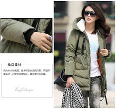 2018 womens winter thicken warm fashion military jackets and down