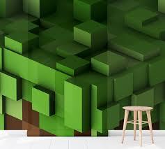 Kinderkamer Behang Minecraft Aarde 4 Dielconl