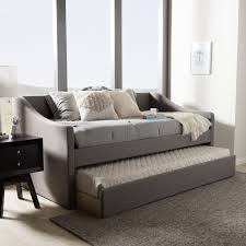 upholstered day bed. Modren Upholstered Barnstorm Modern And Contemporary Grey Fabric Upholstered Daybed With Guest  Trundle Bed In Day