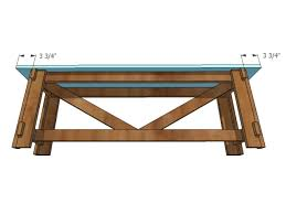 ilration of attaching bench seat to diy bench