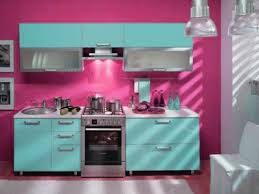 kitchen color decorating ideas. Modern Kitchen Colors, Red-pink And Turquoise Painting Wall Decorating Ideas \u003c Color