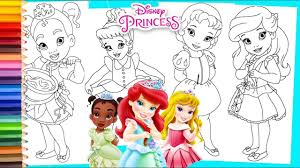 Disney Princess Ariel Cinderella Tiana Snow White When Little