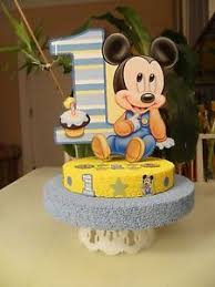 Baby Mickey Mouse Cake Topper Centerpiece First Birthday