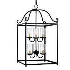 feiss declaration antique forged iron six light chandelier