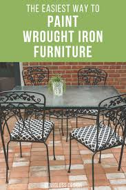 rod iron furniture design. Learn How To Paint Wrought Iron Furniture The Easy Way! Updating Vintage  Patio Is Rod Design