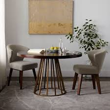 round dining table with cutout legs designs west elm