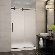 inspiration to create a sliding shower doors frosted glass frameless langham 48 in 36 in x