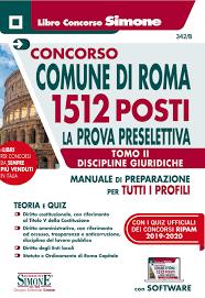 Amazon.fr - CONCORSO COMUNE Di Roma 1512 Posti. Prova Preselettiva Tomo II  – Discipline giuridiche per Tutti I Profili. Con software - AA.VV. - Livres