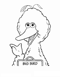 Big Bird Coloring Pages Printable Shelter