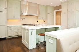 light green cabinets