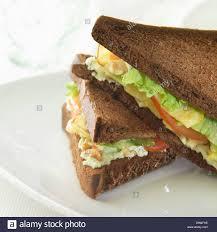 Lettuceapple And Walnut Black Bread Sandwich Stock Photo 57109402