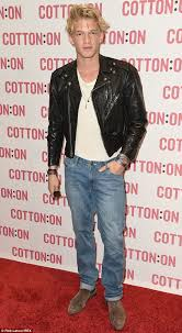 rock star cody simpson hit the red carpet at a cotton on in los